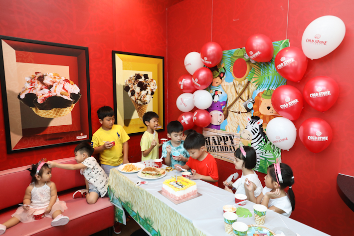 Cold Stone Creamery Kids Party