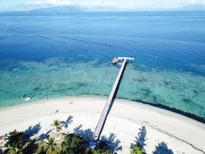 Fiji Drone Shot Malamala Beach Club