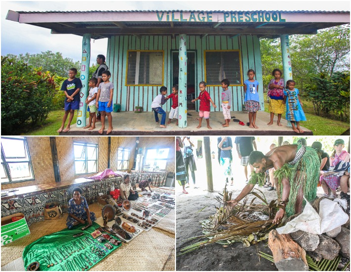 Fiji Village Tour Collage