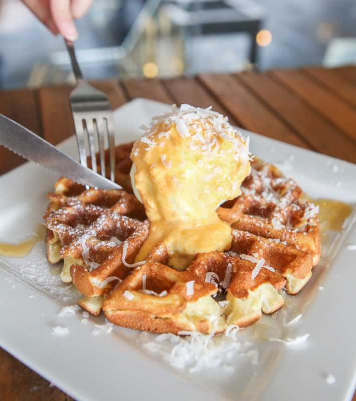 Ink N Water Waffle w Salted Egg Ice Cream