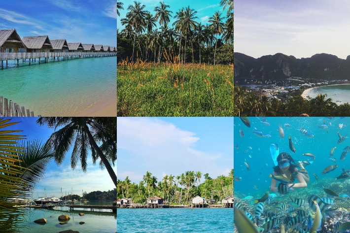 Beach Destinations Collage