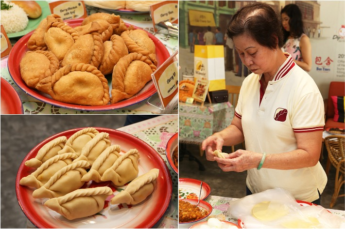 Old Chang Kee Curry Puff Collage