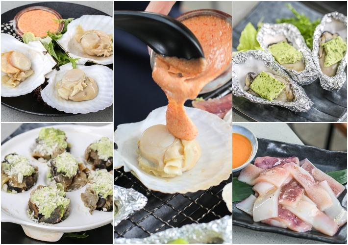 Tsukiji Hamayaki Grill Collage