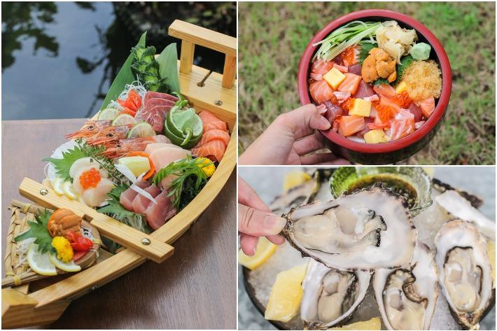 Tsukiji Sashimi and Oysters Collage