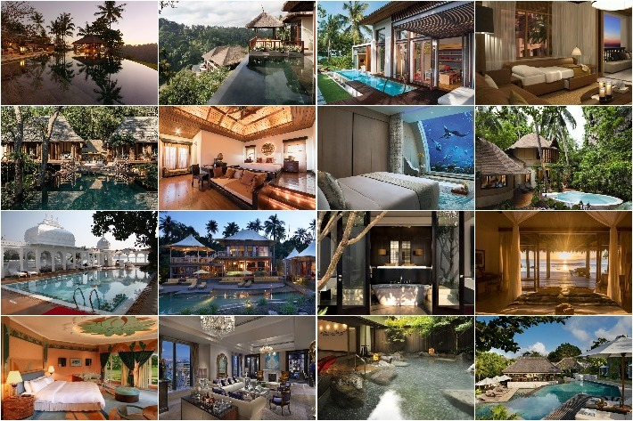 Asia Gorgeous Hotels Collage
