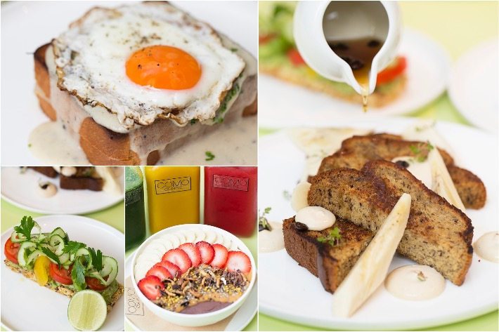 COMO Cuisine Breakfast Collage