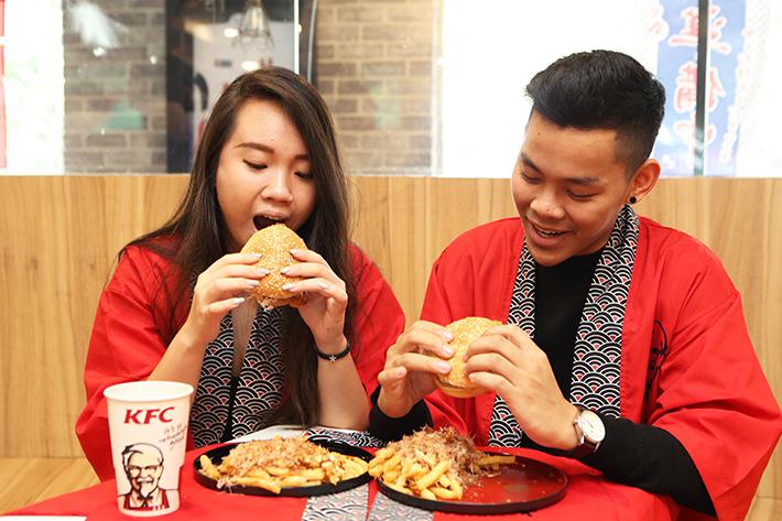 KFC Eating Shot