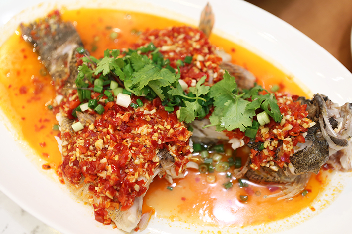 Lao Beijing Steamed Soon Hock With Pickled Chilli