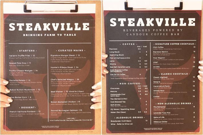 Steakville Menu