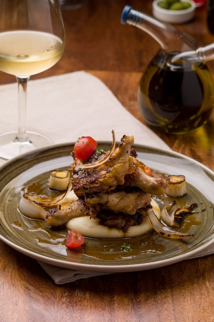 Wine and Chef Roasted Baby Chicken