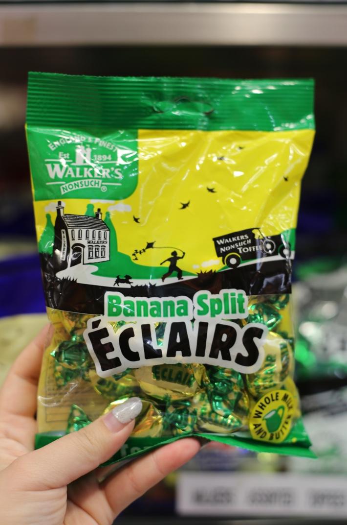 banana split eclairs