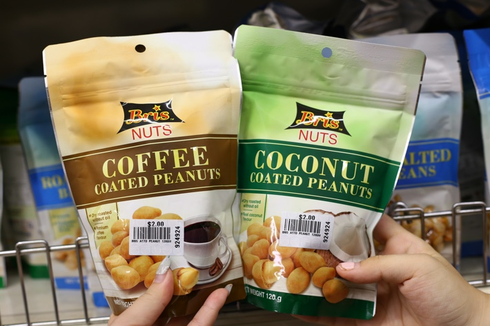 coffee and coconut peanuts