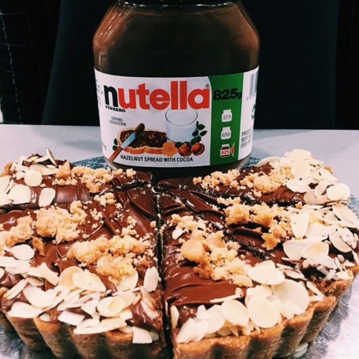 CHULOP NUTELLA CHEESE TART
