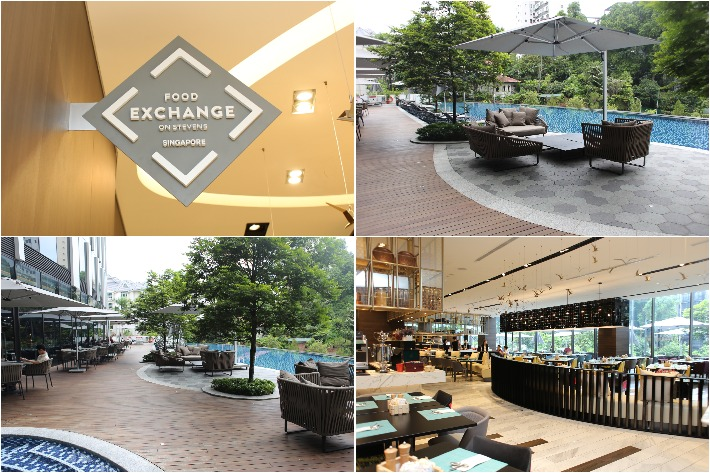 Food Exchange Interior Exterior Collage