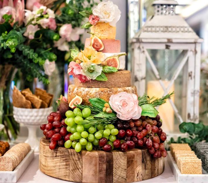 Lush Platters Cheese Wheel Cake