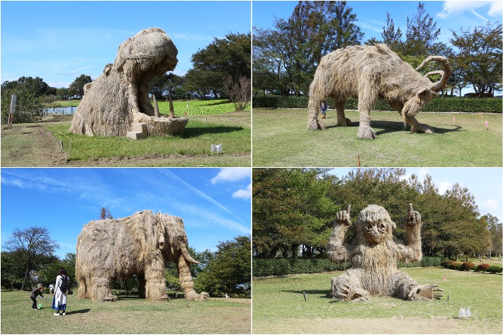 Rice Straw Sculptures Niigata
