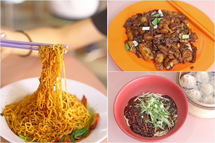 Yu Hua Market Food Collage