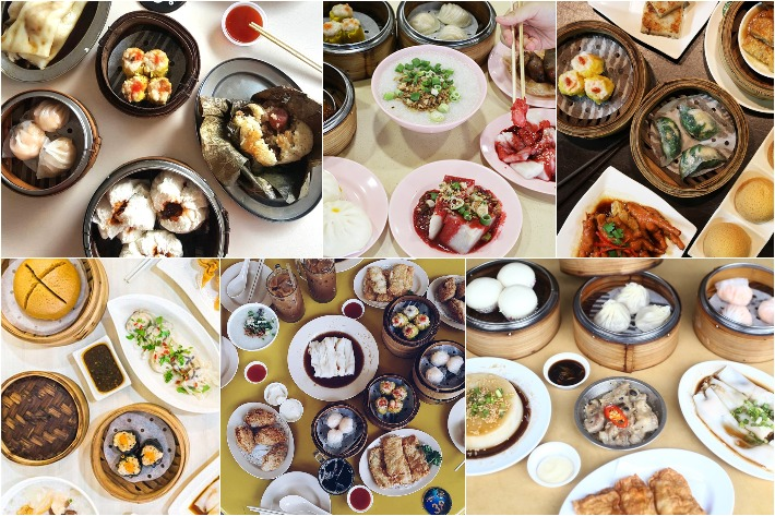 cheap dim sum collage