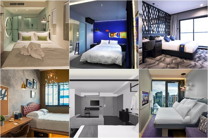 Affordable Hotels in Singapore Collage