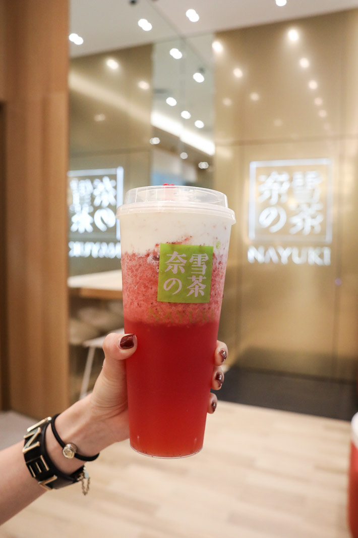 Nayuki Strawberry Cheese Tea