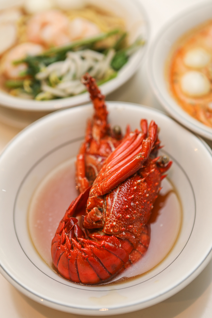 Ginger Baby Lobster With Abalone Sauce