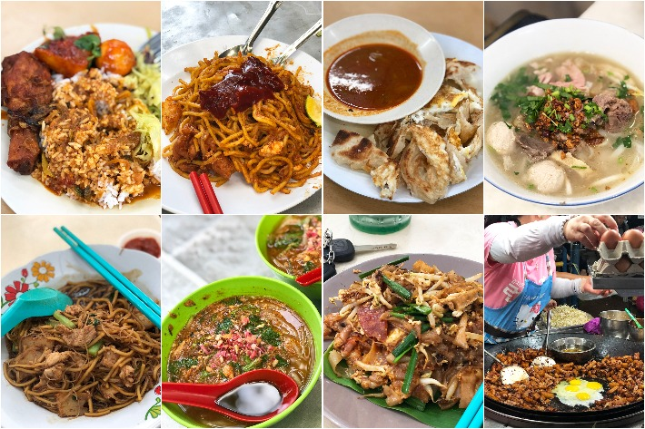 Penang Street Food Collage