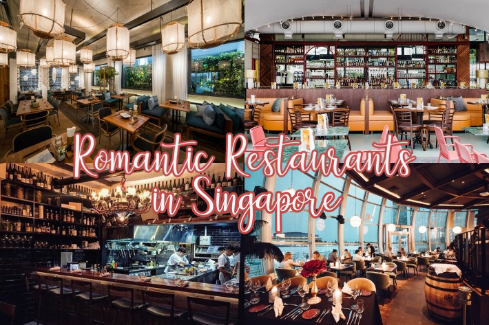 Romantic Restaurants Interior Collage