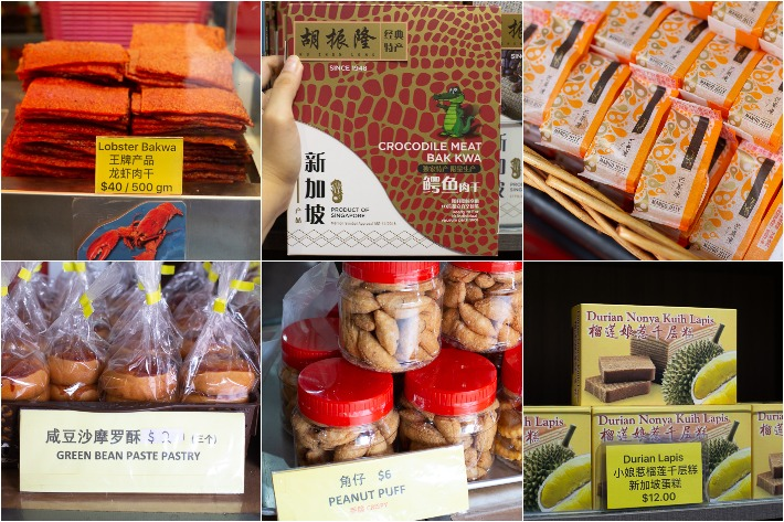 Unusual CNY Snacks Collage