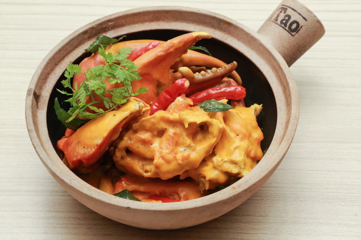 Pumpkin Crab Claypot