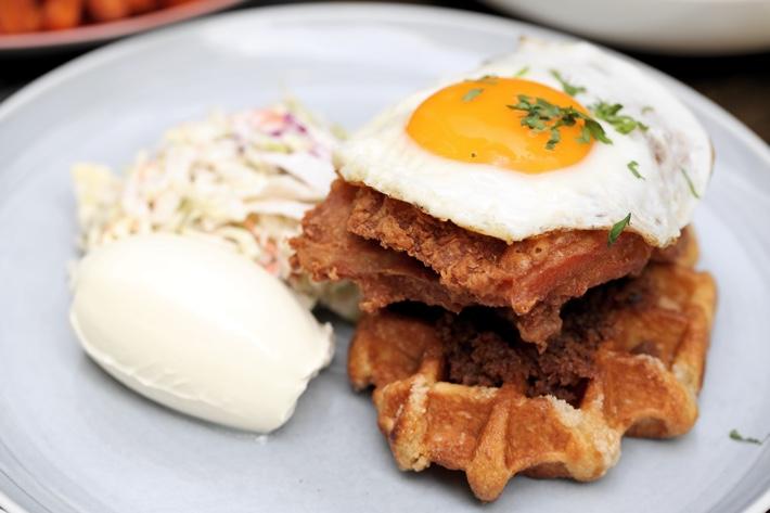 Oriole Cafe + Bar Chicken Waffles