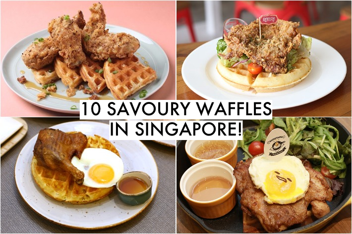 Savoury Waffles Collage