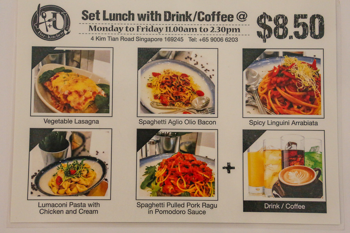 4+U Bar and Kitchen Lunch Set Menu