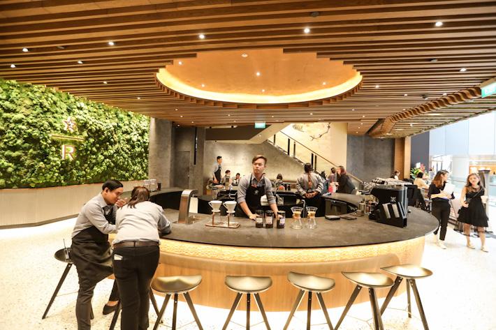 Starbucks Reserve Jewel Changi Airport Interior