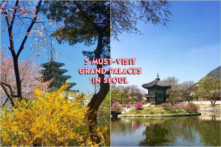 Grand Palaces in Seoul Collage