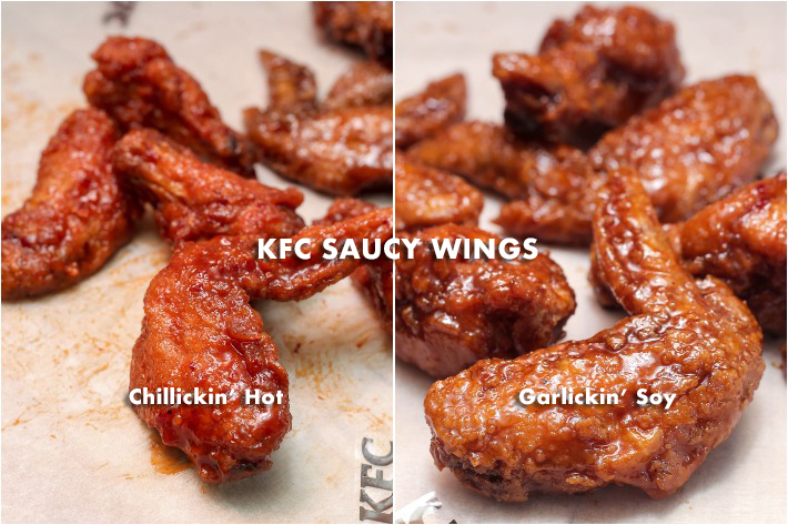 KFC new saucy wings