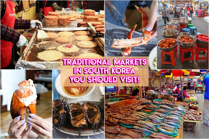 Traditional Markets in Korea Collage