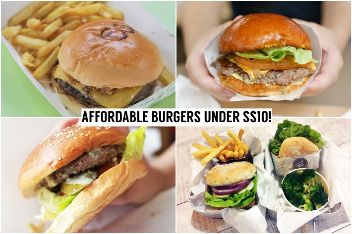 AFFORDABLE BURGERS UNDER S$10 COLLAGE