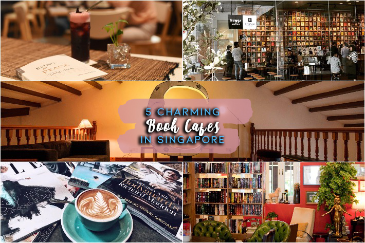 Book Cafes in Singapore Collage