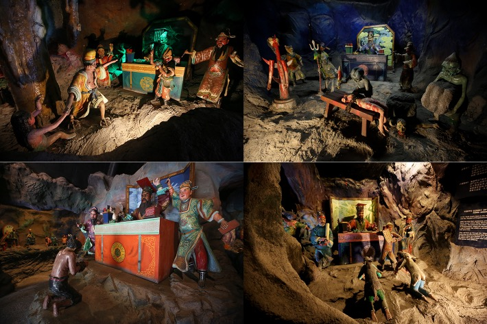Haw Par Villa Ten Courts of Hell collage