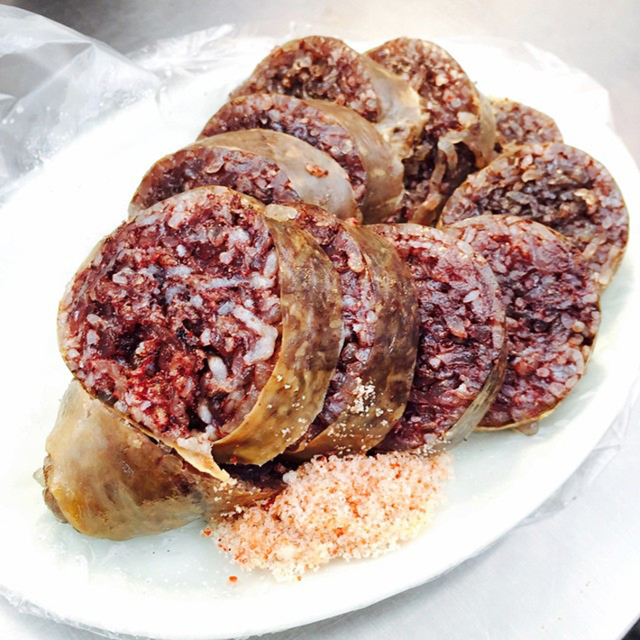 Soondae blood sausage korea