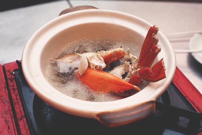 Bak Kut Teh Crab boiling ginger