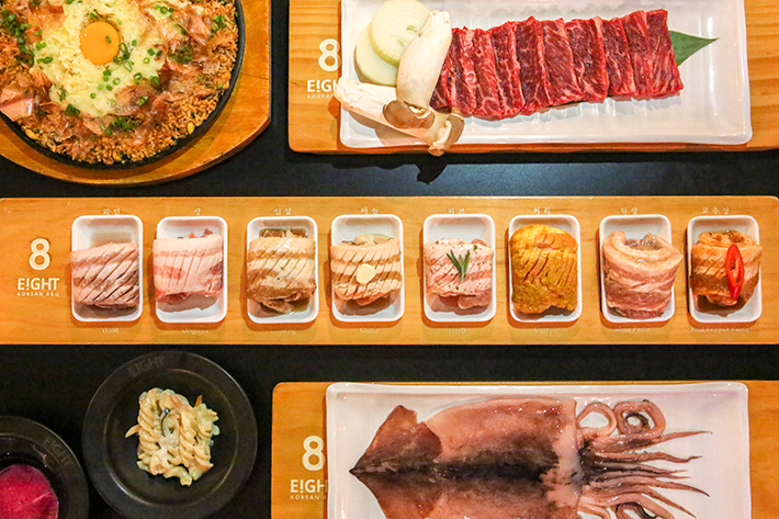 8 Korean BBQ 8 Colours Set 01