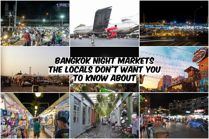BANGKOK NIGHT MARKT COLLAGE