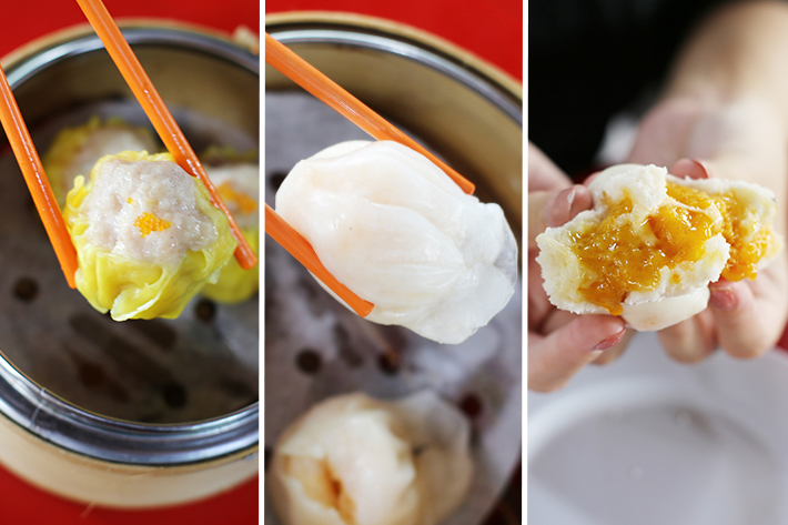Enak Enak Hong Kong Tea House Siew Mai, Har Kow and Steamed Golden Sand Bun