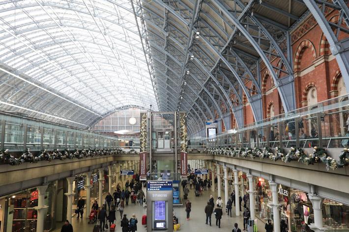 London St Pancras Train Station