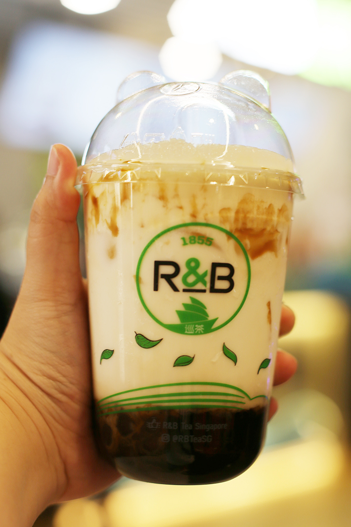R&B Tea Brown Sugar Boba Milk with Cheese Brulee