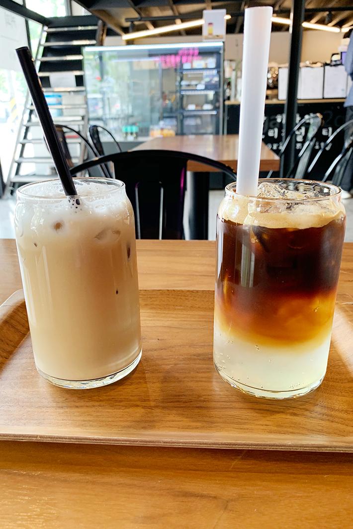 &gather Cafe Iced Coco-Presso and Iced Lemony Coke-01