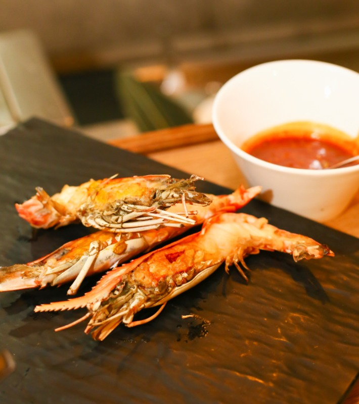 GINGER Grilled River Prawn with Belachan