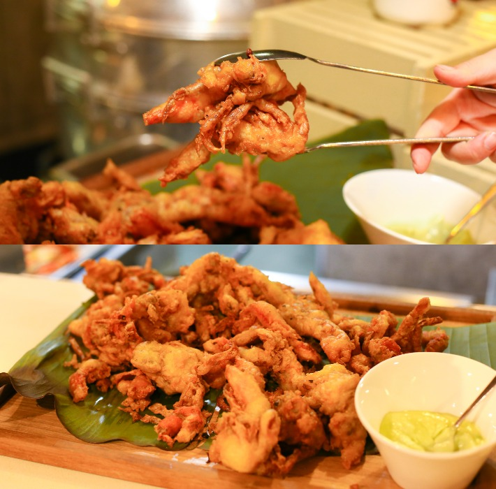 GINGER Soft Shell Crab with Wasabi