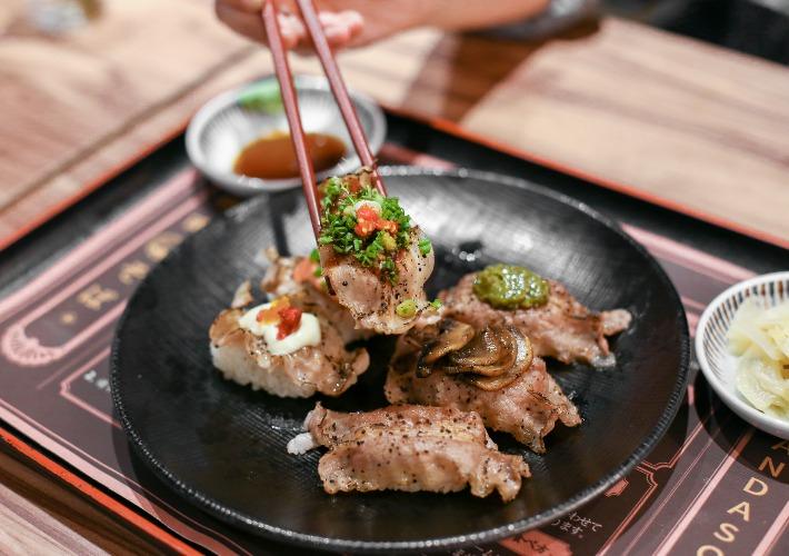 Kanda Soba Meat Sushi
